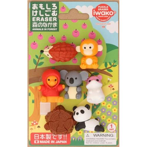 Iwako Silgi Seti - Orman Hayvanları - 19