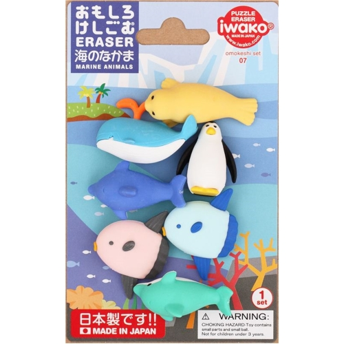 Iwako Silgi Seti - Deniz Canlıları - 07