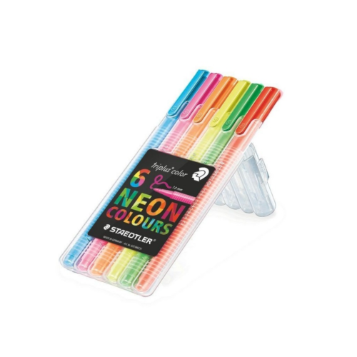 Staedtler Triplus Color 1.0mm Neon 6'lı Set