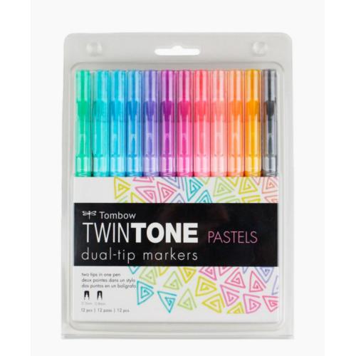 Tombow Twintone Pastels 12'li Markör Seti