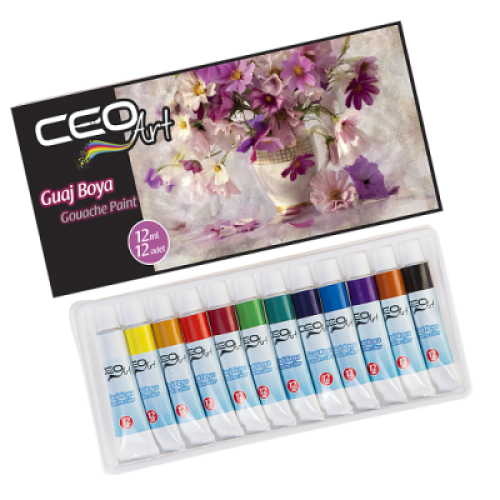 CEO ART 12 RENK GUAJ BOYA - 12 ML