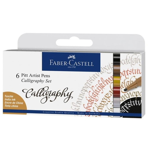 Faber Castell Pitt Kaligrafi Kalem Seti 6'lı