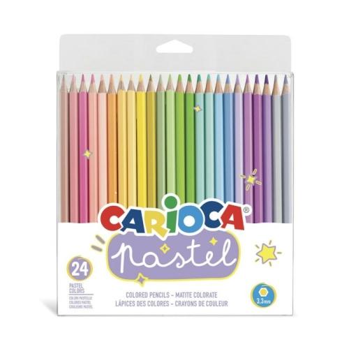 Carioca Pastel Renk Kuru Boya 24'lü