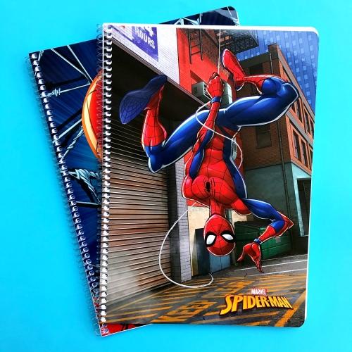 Spiderman Karton Kapaklı Kareli Okul Defteri - A4