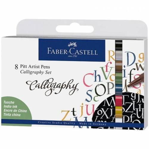 Faber Castell Pitt Kaligrafi Kalem Seti 8'li