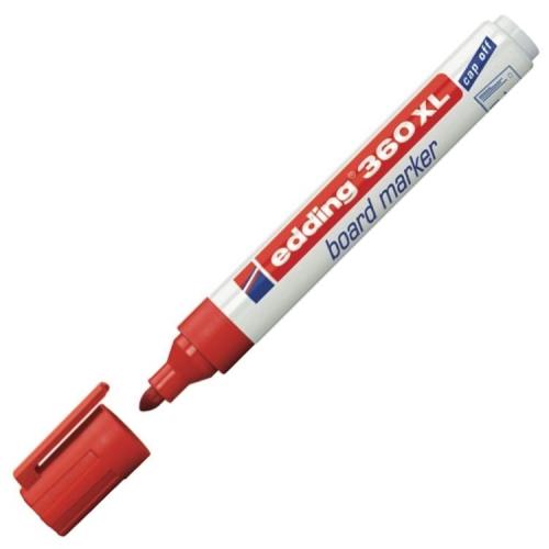 Edding 360 XL Doldurulabilir Beyaz Tahta Kalemi - Kırmızı
