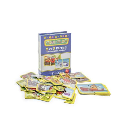 Okul Öncesi Taşıtlar 2-3 Parçalı Puzzle