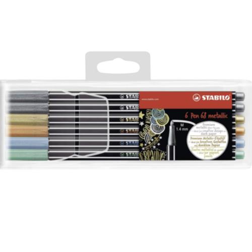 Stabilo Pen 68 Metalik Renkler 6'lı Set