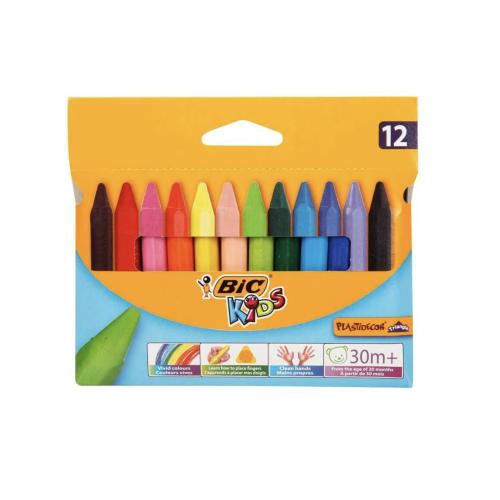 BİC Elleri Kirletmeyen Üçgen Pastel Boya 12'li