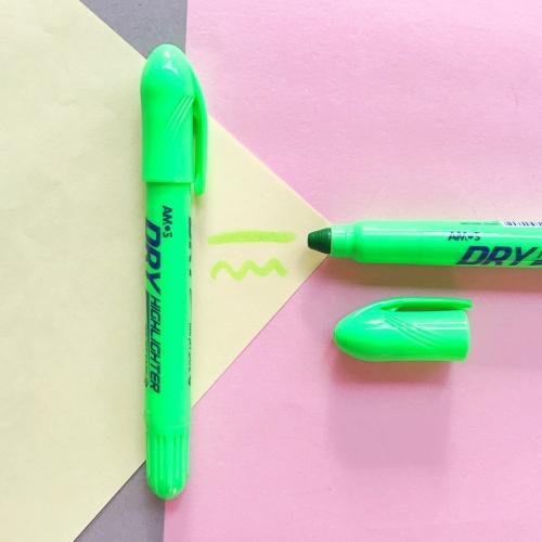 Amos Dry Jel Fosforlu Kalem - Yeşil
