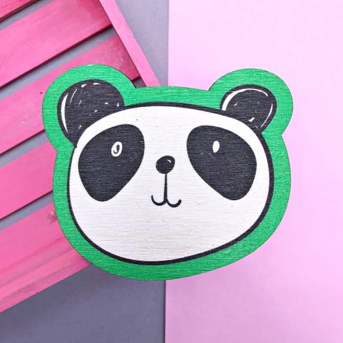 Yeşil Panda Bardak Altlığı