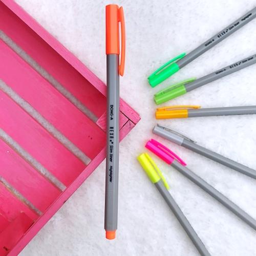 Dong-A Hexa Slimliner Fosforlu İşaretleme Kalemi - Neon Turuncu