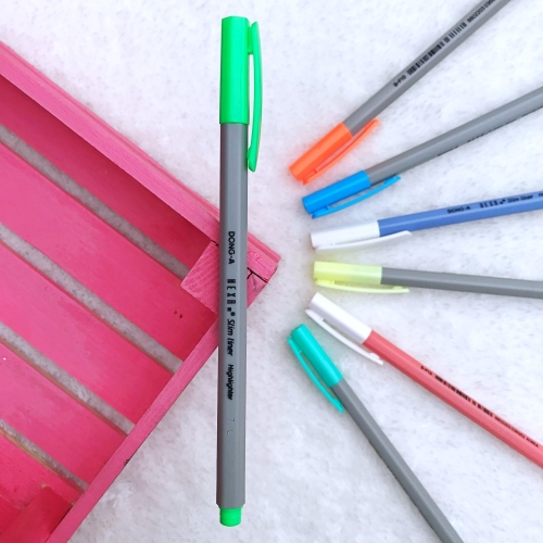 Dong-A Hexa Slimliner Fosforlu İşaretleme Kalemi - Açık Yeşil