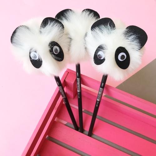 Dev Pon Pon Panda Başlıklı Kurşun Kalem