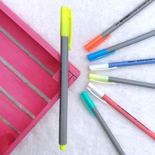 Dong-A Hexa Slimliner Fosforlu İşaretleme Kalemi - Neon Sarı