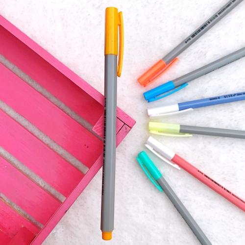 Dong-A Hexa Slimliner Fosforlu İşaretleme Kalemi - Altın Sarısı