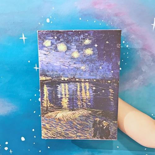 Ren Nehrinde Yıldızlı Bir Gece Kanvas Tablo