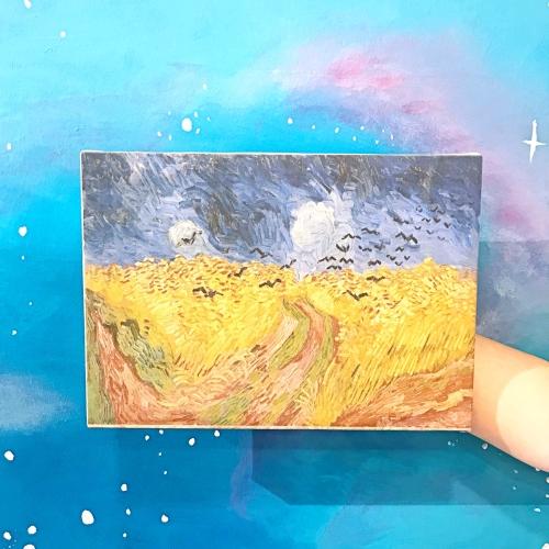 Buğday Tarlası ve Kargalar Kanvas Tablo