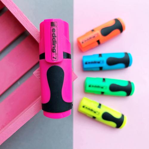 Edding 7 Mini Fosforlu İşaretleme Kalemi - Pembe