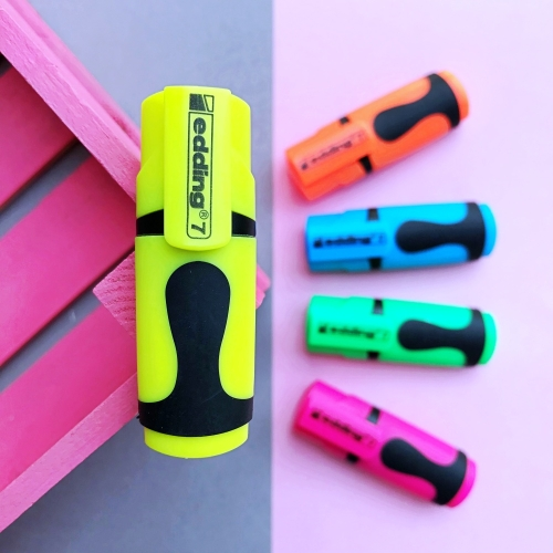 Edding 7 Mini Fosforlu İşaretleme Kalemi - Sarı