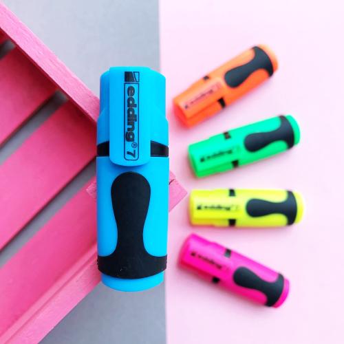 Edding 7 Mini Fosforlu İşaretleme Kalemi - Mavi