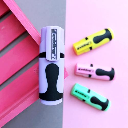 Edding 7 Mini Pastel Fosforlu İşaretleme Kalemi - Mor