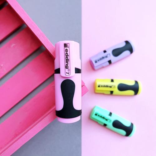 Edding 7 Mini Pastel Fosforlu İşaretleme Kalemi - Pembe