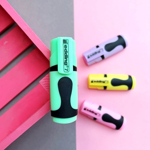 Edding 7 Mini Pastel Fosforlu İşaretleme Kalemi - Yeşil