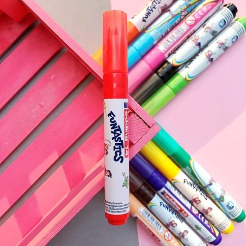 Edding Funtastics Yıkanabilir Keçe Uçlu Kalem Kalın - Kırmızı