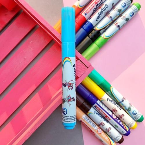 Edding Funtastics Yıkanabilir Keçe Uçlu Kalem Kalın - Açık Mavi