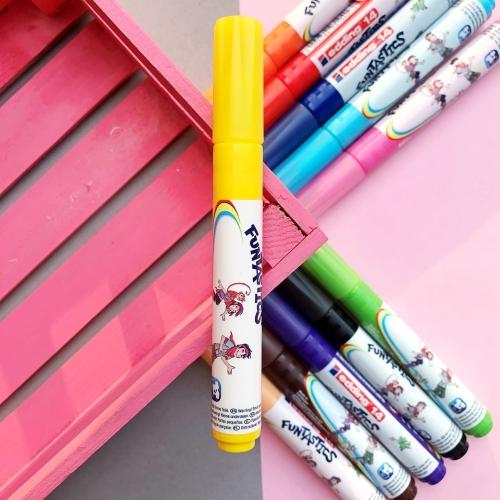 Edding Funtastics Yıkanabilir Keçe Uçlu Kalem Kalın - Sarı