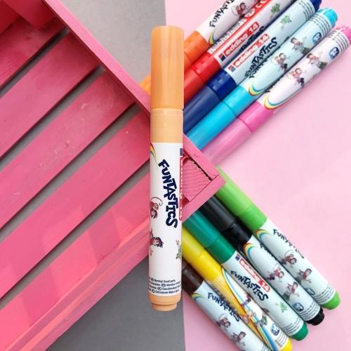 Edding Funtastics Yıkanabilir Keçe Uçlu Kalem Kalın - Ten Rengi