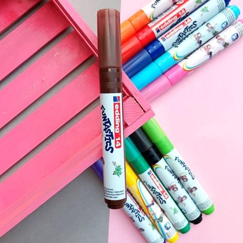 Edding Funtastics Yıkanabilir Keçe Uçlu Kalem Kalın - Kahverengi