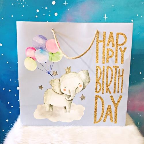 Gıpta Happy Birthday Elephant B5 Karton Hediye Çantası