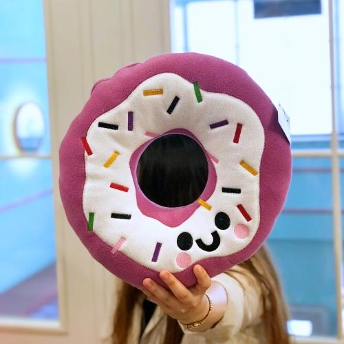 Lila Donut Peluş Yastık