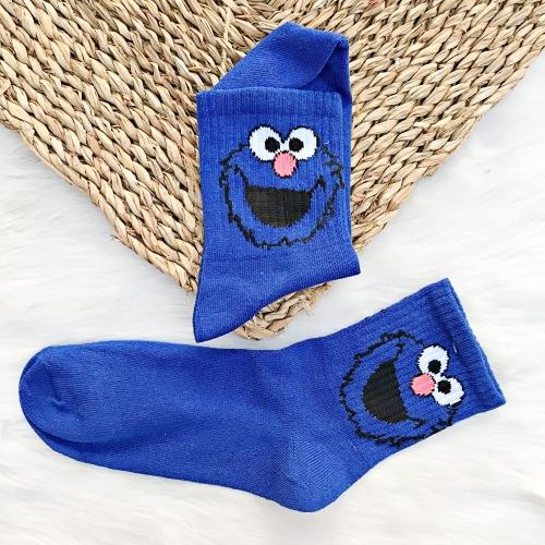 Kurabiye Canavarı Surat Mavi Çorap