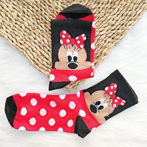 Minnie Mouse Desenli Benekli Çorap