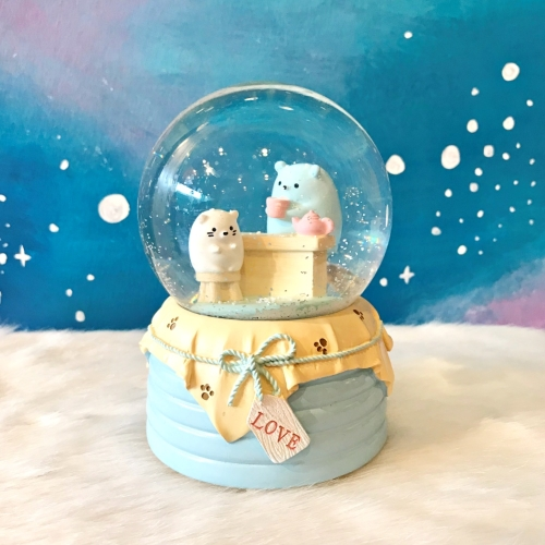 Sweet Bears Büyük Boy Püskürtmeli Kar Küresi