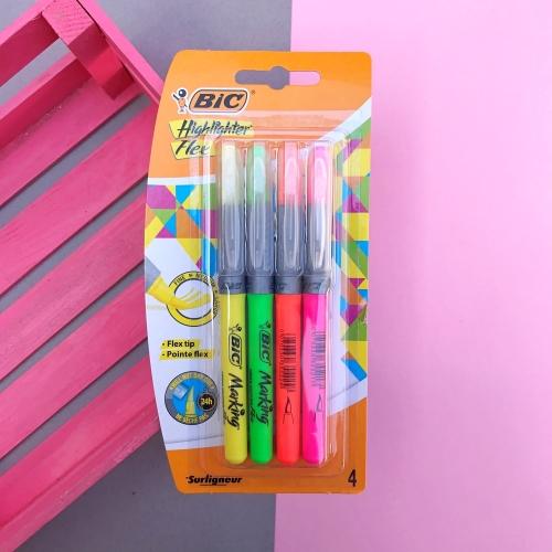 Bic Fosforlu Kalem Markıng Hıghlıghter Flex 4lü