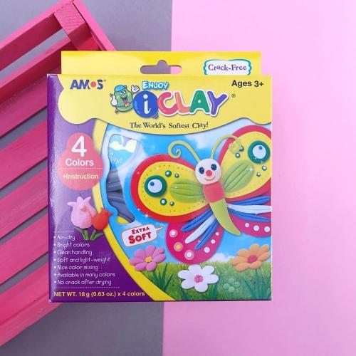 Amos I Clay Zıplayan Oyun Hamuru 4 Renk
