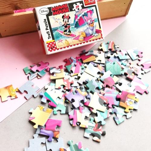 Minnie Mouse 54 Parça Mini Puzzle - 19474