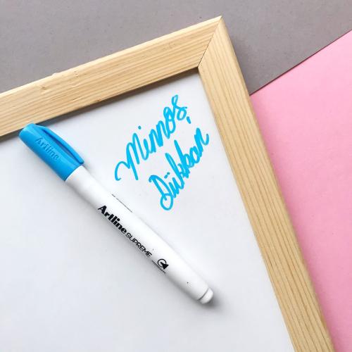 Artline Supreme Beyaz Tahta Kalemi - Açık Mavi