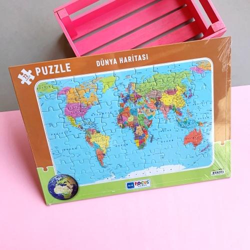Dünya Haritası Frame Puzzle - 72 Parça