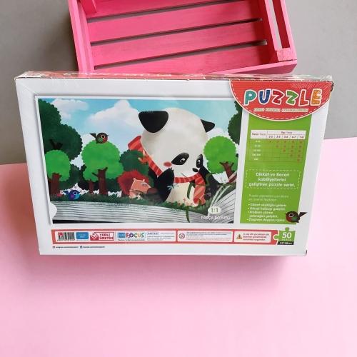 Focus Games Tatlış Panda Kutulu Puzzle - 50 Parça