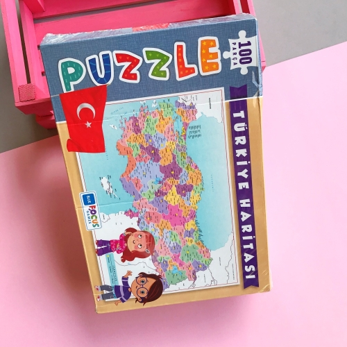Focus Games Türkiye Haritası Kutulu Puzzle - 100 Parça