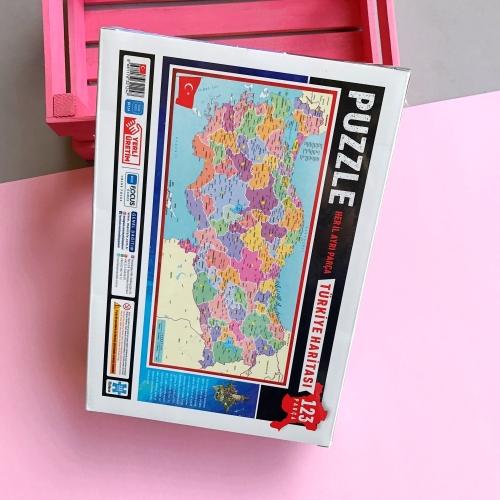 Focus Games Türkiye Haritası Her İl Ayrı Kutulu Puzzle - 123 Parça