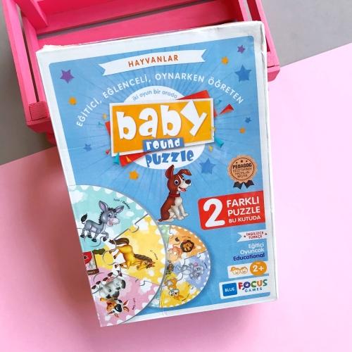 Baby Round Puzzle - Hayvanlar