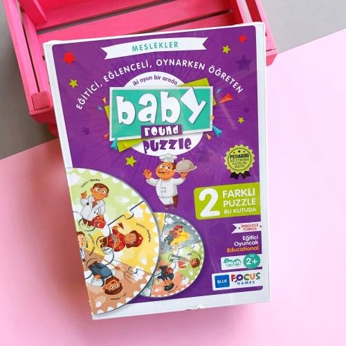 Baby Round Puzzle - Meslekler