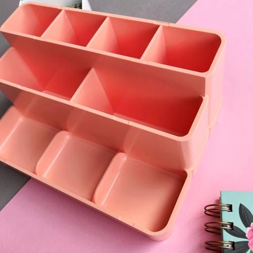 Pastel Renk Çoklu Büyük Masaüstü Organizer - Somon