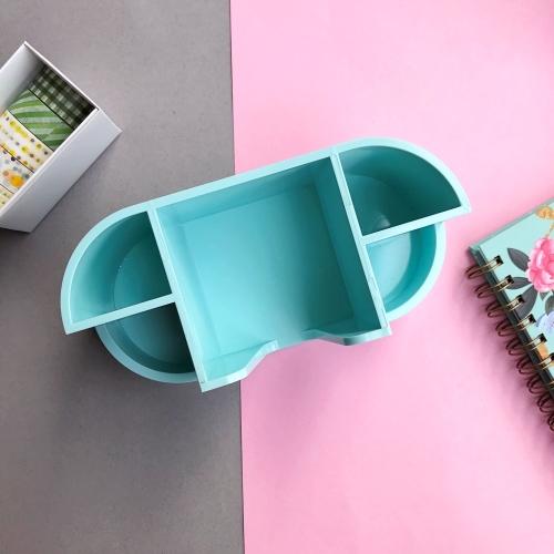 Pastel Renk Notluk Bölmeli Masaüstü Organizer - Mint